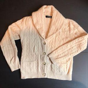 Ralph Lauren Thick cashmere shawl collar cardigan